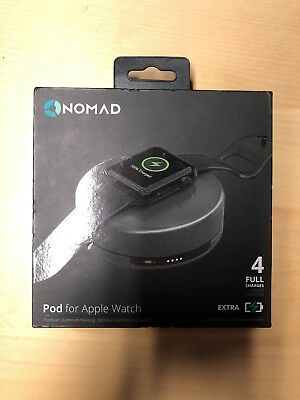 Nomad Portable Charging Pod for Apple Watch - Space Gray - POD-APPLE-SG-001