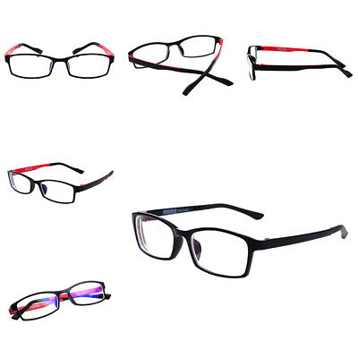 Myopia Ultra-light Black Nearsighted Glasses Student Red 100-400 Degree