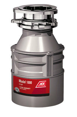 Ace Garbage Disposal 1/3 hp Gray Model 1000