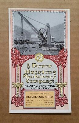 Pillar-Cranes,The Brown Hoisting Machinery Co.Cleveland,O.,Trade Card,1904
