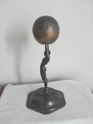 A Diana  Tall Lady Figurine/sculpture Holding The World Stamped