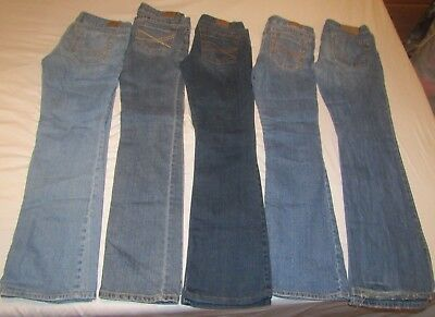 Lot Of 5 Pair Jeans Size 5/6 Aeropostale & 1 Hollister