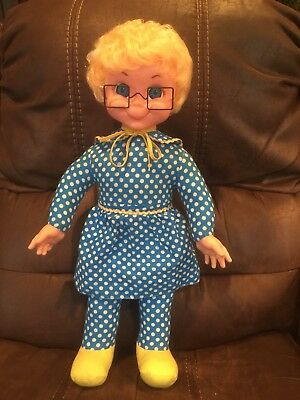 Mattel 1967 Original Mrs. Beasley Doll- Clean and Talking- Cute Girl!