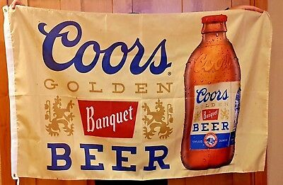 Coors Banquet Beer Flag 3' X 5' Indoor Outdoor Banner man cave bar Christmas Gif