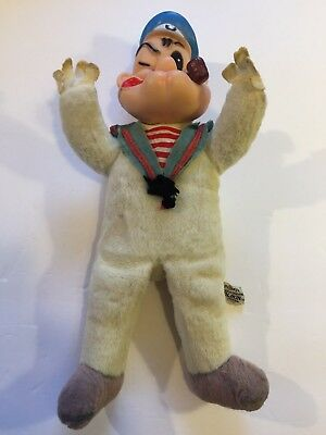 Vintage Popeye Woolikin Doll Childs Toy - King Features Toys Dolls