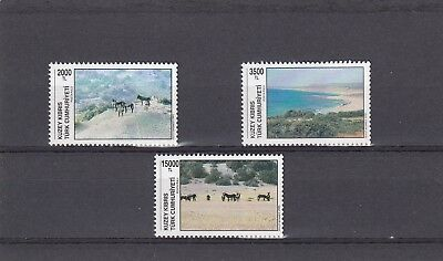 a114 - TURKISH CYPRIOT POSTS - SG392-394 MNH 1995 EUROPEAN CONSERVATION YEAR