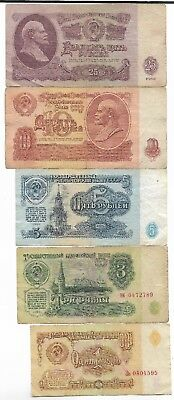 Rare Very Old CCCP Cold War Russian Rubles Dollar LENIN Note Russia Collection