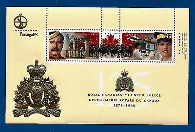 CANADA Canadian PORTUGAL 98' postage stamps souvenir sheet RCMP 125th MNH