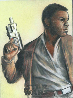2017 Topps Star Wars The Last Jedi Sketch Card Finn By Huy Truong