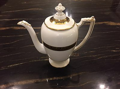 Coalport Citation Gold And White Porcelain Coffee Pot