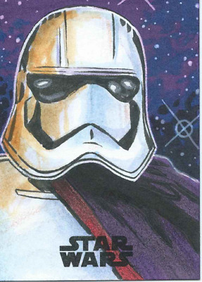 2017 Topps Star Wars The Last Jedi Sketch Card Captain Phasma By Nick Justus