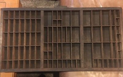 PRINTERS TYPE CASE Or DRAWER Full Size With Hamilton handle Wood Back
