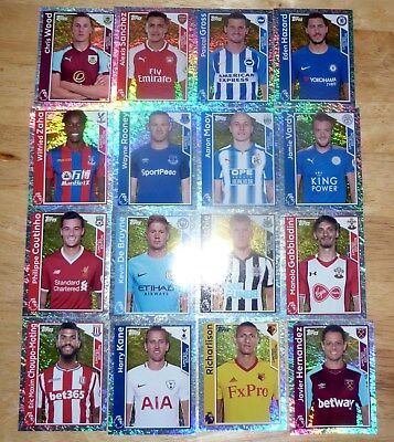 Topps Premier League 2017-18 Stickers - 16 DIFFERENT Limited Edition Stickers