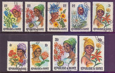 Guinea  1966  Flowers and Women, CTO.
