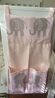 Baby nappy/diaper Stacker - Pink Elephants