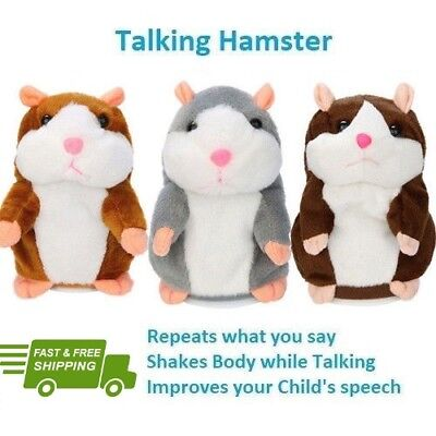 Talking Hamster Electronic Plush Toy Mouse Pet Sound Gift Children Cute Gift