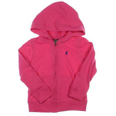 Polo Ralph Lauren 4790 Pink Toddler's French Terry Full Zip Hoodie 4/4T BHFO