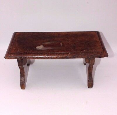 "Oak shelf  footstool book rest Antique Pew parayer stool 5"" high approx S2"