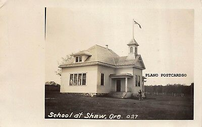 "Shaw, Oregon, ""School-Early 1900'S"" Rppc Real Photo Postcard"