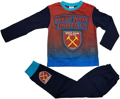 West Ham Utd FC Boys Football Pyjamas pjs Set Age 2 - 13 years HAMMERS IRONS
