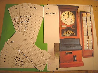 Vintage National Time Recorder Clocking In Cards X 20  New  White