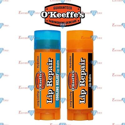 O'Keeffe's Lip Repair For Extremely Dry & Cracked Split Lips - 4.2g NEW