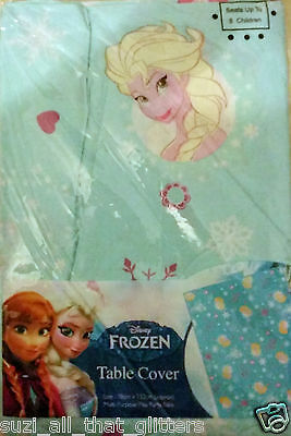 Lovely Brand New Disney Blue Frozen Table Cloth, Parites, Christmas, Play, Bake
