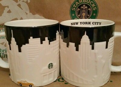 Starbucks Coffee City Mug/Tasse/Becher NEW YORK CITY Relief,NEU&unbenutzt m.SKU!