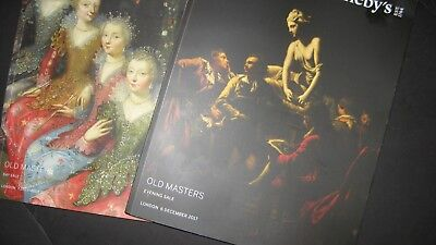 2X London Old Masters 6 7  December 2017 Auction  Eve  And Day Catalogs
