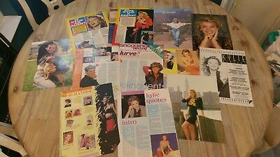 Kylie Massive Clippings Posters collection 1988-9 Rare pwl vintage