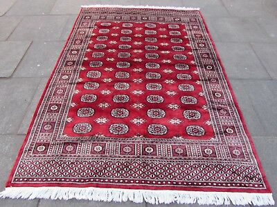Old Traditional Hand Made Pakistan Oriental Wool Red Large Rug 234x162cm