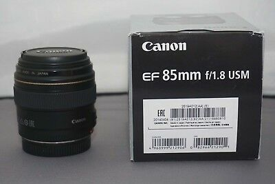 Canon EF 85mm F/1.8 USM Lens Ideal for Portraiture - See Example Photos