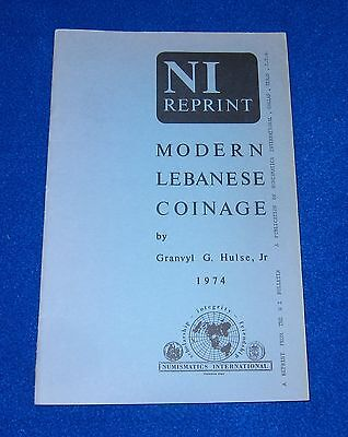 Modern Lebanese Coinage, 1974 Granvyl G. Hulse, Jr.  excellent condition