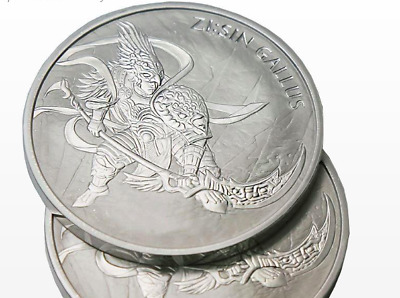 2017 South Korea Zi:Sin Series Gallus 1 oz .999 Silver BU Limited only 33000