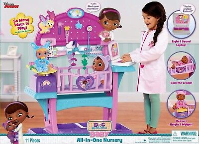 Doc McStuffins Disney Baby All In One Nursery PLAYSET TOY GIRLS PRETEND PLAY NEW
