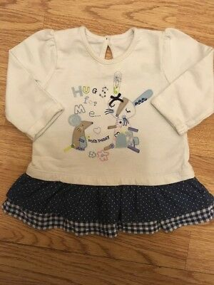 George Baby Girls Bunny & Mouse Dress 0-3 Months