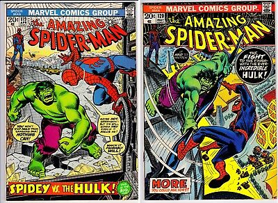 Amazing Spider-Man #119, 120 vs the Hulk! Affordable Nice Looking Set! Look VF