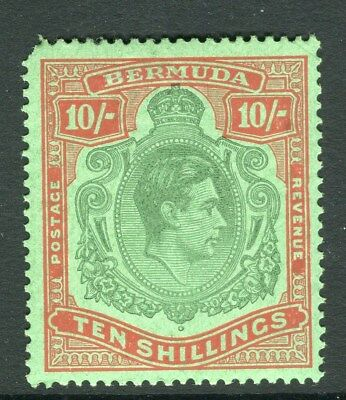 BERMUDA;  1938 early GVI issue fine Mint MNH 10s. Perf 14, value