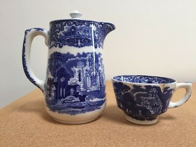 GEORGE JONES & SONS Abbey 1790 Coffee Pot and Cup