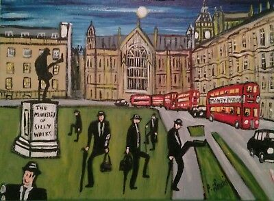"""PHIL LEWIS -MINISTRY OF SILLY WALKS WESTMINSTER -MONTY PYTHON 12""""x 6"""" -30x40 cm"""