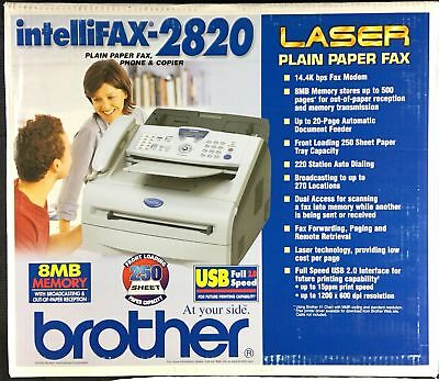 Brother IntelliFax-2820 All-In-One Laser Fax Phone & Copier