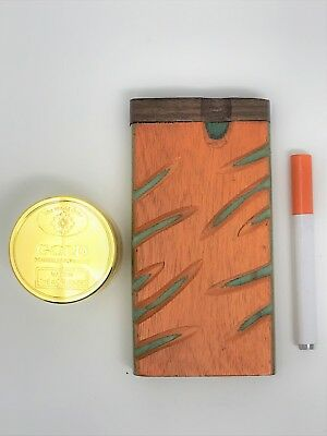 Hand Carved Wooden Dugout w/Metal Bat + FREE Grinder