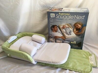 New Baby Delight Snuggle Nest supreme Portable Infant Sleeper Bed Green Leaves