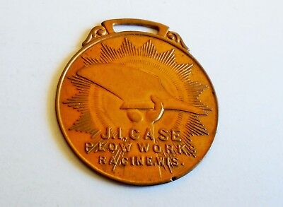 Rare! Vintage Solid Cast J. I. Case Plow Works Watch Fob Racine Wisconsin