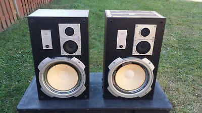 Pair Speakers Vintage Criterion 3000 3 way Speaker System classic antique