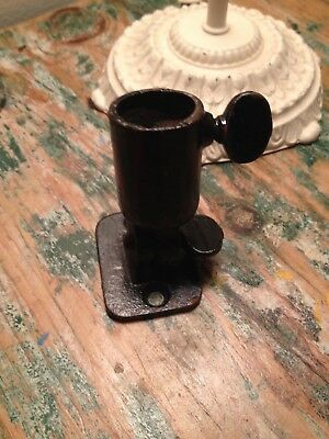 Vintage Cast Iron Flag Holder/Bracket w/screw
