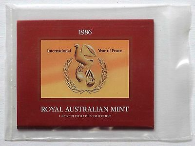 1986 UNCIRCULATED COIN SET - Royal Australia Mint - 7 Coins in Original Packing