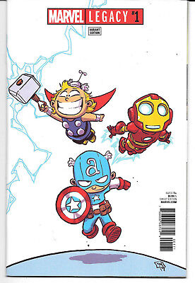 Marvel Legacy #1 (Marvel) - Skottie Young Variant Cover- High Grade!