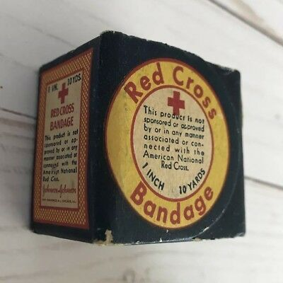 Vintage 1960s Red Cross Bandaid Bandages In Box Unopened