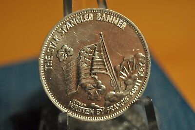 1968 Shell's Famous Facts & Faces Game Token, The Star Spangled Banner Coin